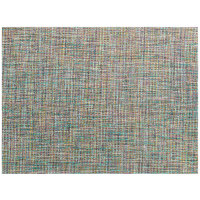 Front of the House XPM128BLV83 Metroweave 16 inch x 12 inch Taffy Twill Woven Vinyl Rectangle Placemat - 12/Pack