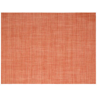 Front of the House XPM099ORV83 Metroweave 16 inch x 12 inch Apricot Mesh Woven Vinyl Rectangle Placemat - 12/Pack