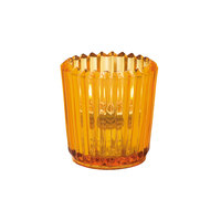 Hollowick 5228A Amber Glass Ribbed Tealight