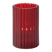 Hollowick 1502R 4 5/8 inch Ruby Glass Vertical Rod Cylinder Lamp
