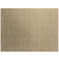 Front of the House XPM132TAV83 Metroweave 16 inch x 12 inch Tan Husk Woven Vinyl Rectangle Placemat - 12/Pack