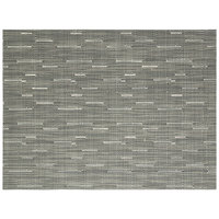 Front of the House XPM063GYV83 Metroweave 16 inch x 12 inch Coal Rush Woven Vinyl Rectangle Placemat - 12/Pack