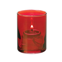 Hollowick 5176R Ruby Lustre Glass Cylinder Tealight