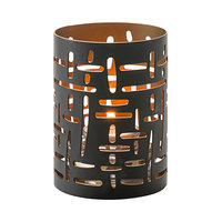 Hollowick 6005 Data Gold and Black Cut Metal Votive