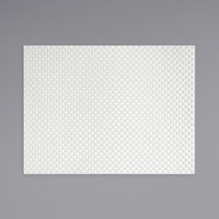 Front of the House XPM044WHV83 Metroweave 16 inch x 12 inch White Large Basketweave Woven Vinyl Rectangle Placemat - 12/Pack