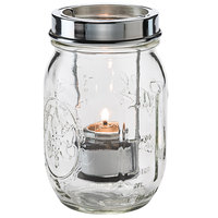 Hollowick 1610C Firefly Clear Jar with Tealight Cradle
