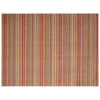 Front of the House XPM096RDV83 Metroweave 16 inch x 12 inch Reds Mesh Woven Vinyl Rectangle Placemat - 12/Pack