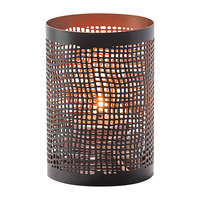 Hollowick 6305 Chantilly Black and Copper Perforated Metal Votive