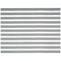 Front of the House XPM111SIV83 Metroweave 16 inch x 12 inch Silver Nautical Woven Vinyl Rectangle Placemat - 12/Pack