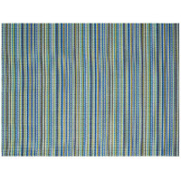 Front of the House XPM106BLV83 Metroweave 16 inch x 12 inch Marine Mesh Woven Vinyl Rectangle Placemat - 12/Pack