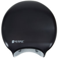 San Jamar R2000TBK Classic 9 inch Single Roll Jumbo Toilet Tissue Dispenser - Black Pearl