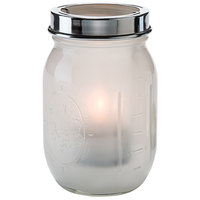 Hollowick 1610SL Firefly Satin Linen Jar with Tealight Cradle