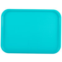 Vollrath 86119 12 inch x 16 inch Teal Plastic Fast Food Tray - 24/Case