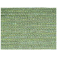 Front of the House XPM095GRV83 Metroweave 16 inch x 12 inch Green Urban Woven Vinyl Rectangle Placemat - 12/Pack