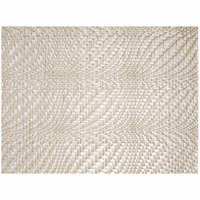 Front of the House XPM104PLV83 Metroweave 16 inch x 12 inch Pearl Optic Woven Vinyl Rectangle Placemat - 12/Pack