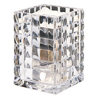 Hollowick 1533C 3 3/4 inch Clear Glass Optic Block Lamp