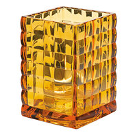 Hollowick 1533A 3 3/4 inch Amber Glass Optic Block Lamp