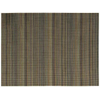 Front of the House XPM110MUV83 Metroweave 16 inch x 12 inch Terra Cotta Mesh Woven Vinyl Rectangle Placemat - 12/Pack