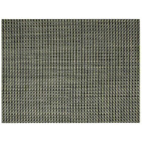 Front of the House XPM056GRV83 Metroweave 16 inch x 12 inch Olive Basketweave Woven Vinyl Rectangle Placemat - 12/Pack
