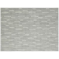 Front of the House XPM065HBV83 Metroweave 16 inch x 12 inch Ocean Rush Woven Vinyl Rectangle Placemat - 12/Pack