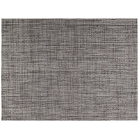 Front of the House XPM093GYV83 Metroweave 16 inch x 12 inch Charcoal Urban Woven Vinyl Rectangle Placemat - 12/Pack