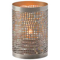 Hollowick 6405 Chantilly Pewter and Gold Perforated Metal Votive