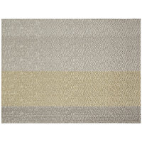 Front of the House XPM090MUV83 Metroweave 16 inch x 12 inch Metallics Mesh Woven Vinyl Rectangle Placemat - 12/Pack