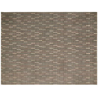 Front of the House XPM031MUV83 Metroweave 16 inch x 12 inch Multi Urban Woven Vinyl Rectangle Placemat - 12/Pack