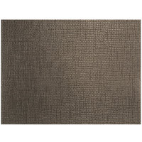 Front of the House XPM134ESV83 Metroweave 16 inch x 12 inch Cocoa Husk Woven Vinyl Rectangle Placemat - 12/Pack