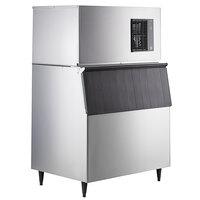 Hoshizaki IM-500SAB 44 inch Air Cooled Regular Cube Ice Machine with Stainless Steel Finish Ice Storage Bin - 489 lb. Per Day, 700 lb. Storage