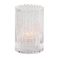 Hollowick 1502CJ 4 5/8 inch Clear Glass Jewel Vertical Rod Cylinder Lamp