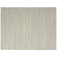 Front of the House XPM038TAV83 Metroweave 16 inch x 12 inch Tan Basketweave Woven Vinyl Rectangle Placemat - 12/Pack