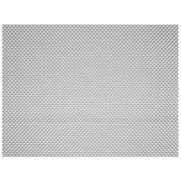Front of the House XPM075SIV83 Metroweave 16 inch x 12 inch Pewter Basketweave Woven Vinyl Rectangle Placemat - 12/Pack