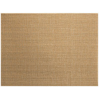 Front of the House XPM133COV83 Metroweave 16 inch x 12 inch Copper Husk Woven Vinyl Rectangle Placemat - 12/Pack