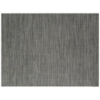 Front of the House XPM028BKV83 Metroweave 16 inch x 12 inch Black Tweed Woven Vinyl Rectangle Placemat - 12/Pack