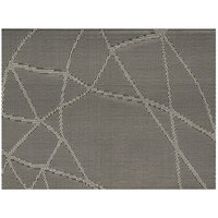 Front of the House XPM092SIV83 Metroweave 16 inch x 12 inch Metallic Abstract Woven Vinyl Rectangle Placemat - 12/Pack