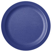 Carlisle PCD21050 Blue 10 inch Polycarbonate Narrow Rim Plate - 48/Case