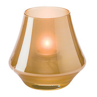 Hollowick 6955SG Chime Satin Gold Glass Votive