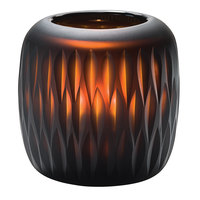 Hollowick 4100 Mystic Black and Amber Glass Votive