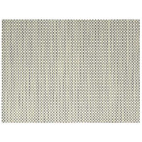 Front of the House XPM067GRV83 Metroweave 16 inch x 12 inch Sage Basketweave Woven Vinyl Rectangle Placemat - 12/Pack