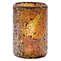 Hollowick 43017G Crackle Gold Glass Cylinder Lamp