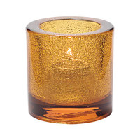 Hollowick 5140AJ Round Amber Jewel Thick Glass Tealight