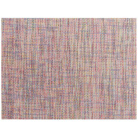 Front of the House XPM126MUV83 Metroweave 16 inch x 12 inch Sprinkles Twill Woven Vinyl Rectangle Placemat - 12/Pack
