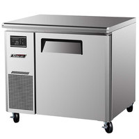 Turbo Air JUF-36 J Series 36 inch Undercounter Freezer with Side Mounted Compressor - 7 Cu. Ft.