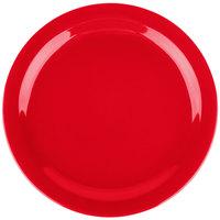 Carlisle 4385005 Red Dayton 10 1/4 inch Melamine Plate - 48/Case