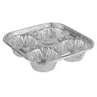 D&W Fine Pack 19430 4 Cavity Foil Texas / Jumbo Muffin Pan - 250/Case