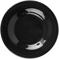 Carlisle 3302003 Sierrus 5 1/2 inch Black Wide Rim Melamine Bread and Butter Plate - 48/Case