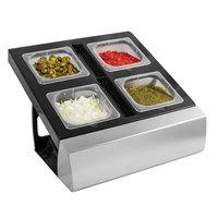 San Jamar MODMP16KIT ModPan Series 4-Compartment Modular Condiment Bar