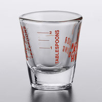 Anchor Hocking 96522AHG18 1 oz. Measuring Glass with Red Print and Gradations