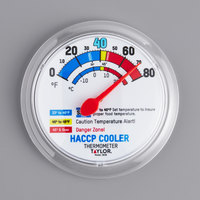 Taylor 5636 6 inch HACCP Cooler / Freezer Wall Thermometer